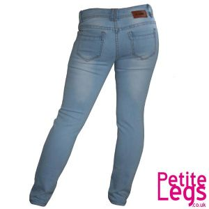 Daysie Light Wash Skinny Jeans | UK Size 6 | Petite Leg Inseam 24.5 inches | With Free Belt
